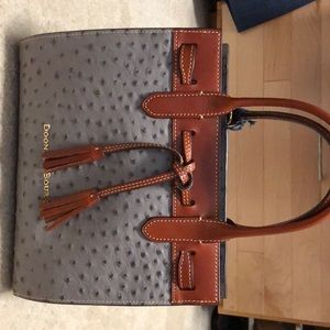 Gray and brown Dooney and Bourke Bag